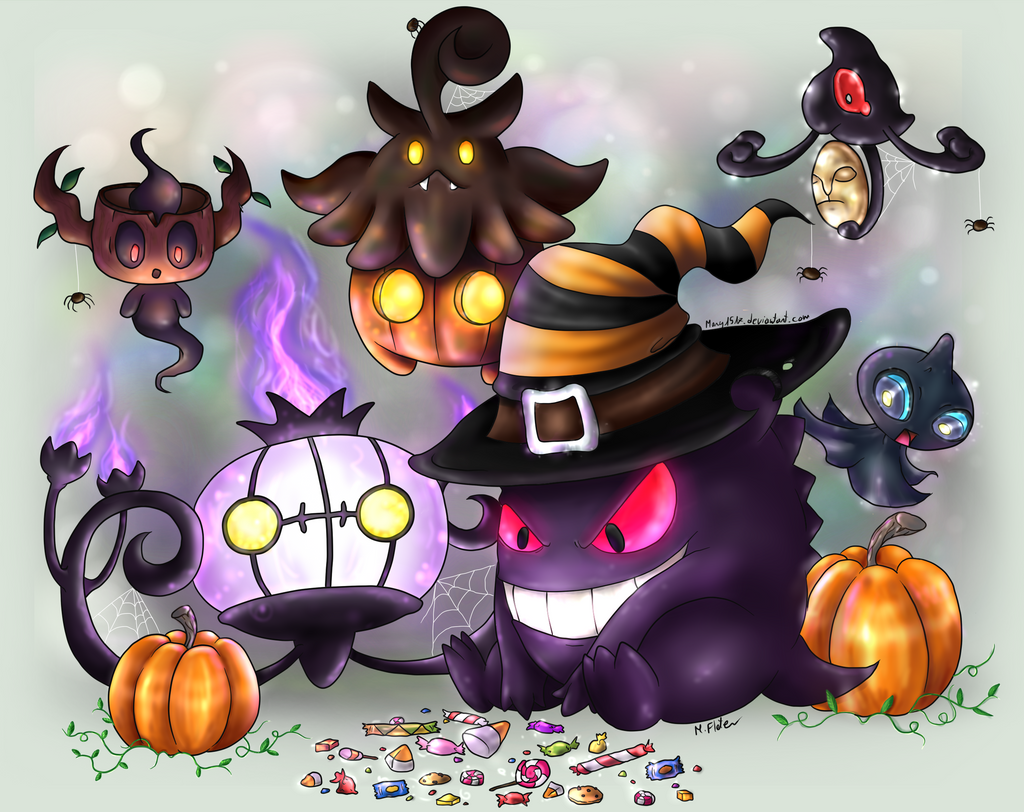 Happy Ghost-type Halloween by Mary1517 on DeviantArt
