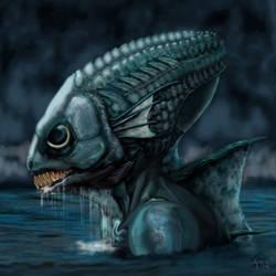 Deep One Rising by Dragon-Bat