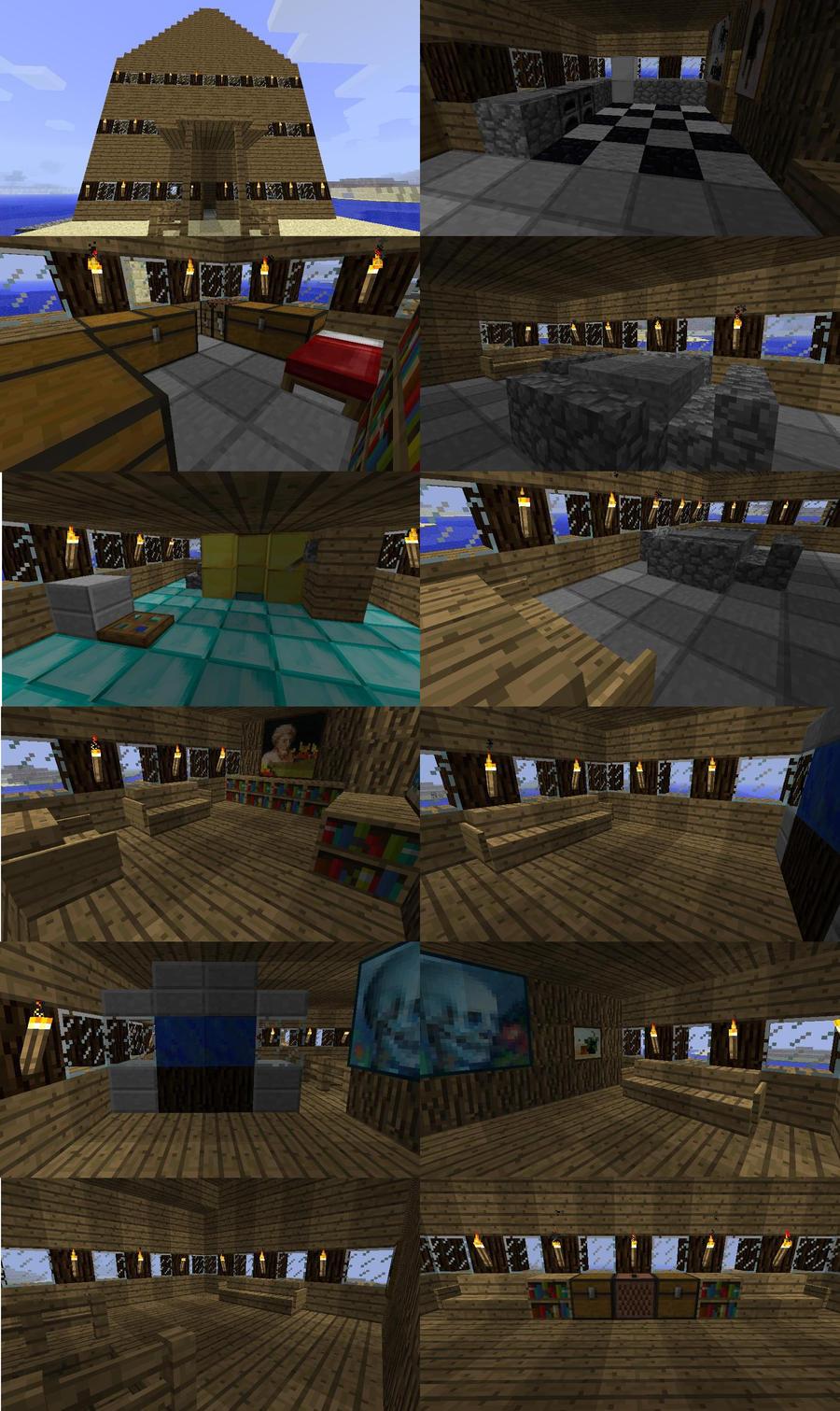 Beach house designs minecraft for Beach house designs minecraft