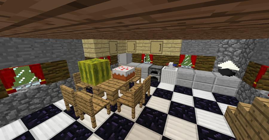 My kitchen in my house in minecraft by toamac on deviantart for Kitchen ideas for minecraft