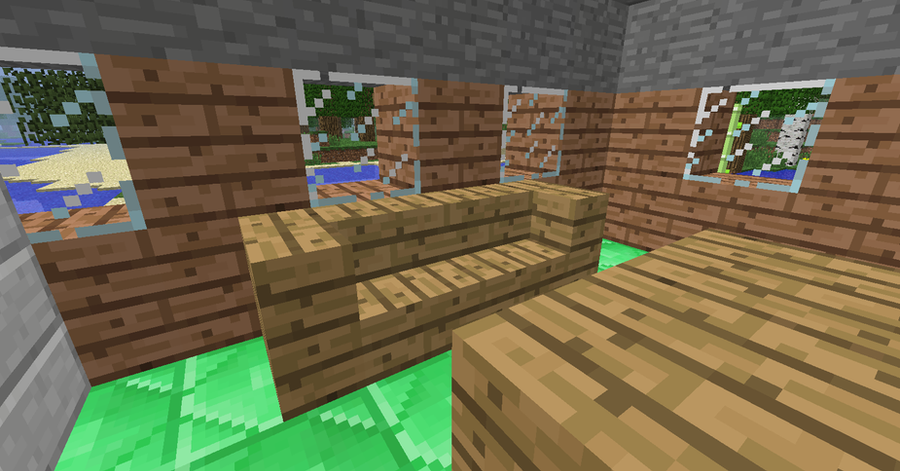 how to make a couch in minecraft