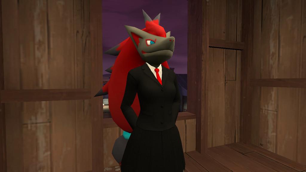 Zoroark's uniform by toamac