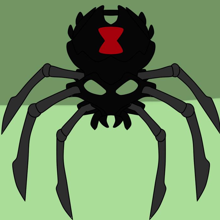 Queen Black Widow Skull Spider  by toamac