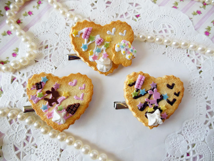 Heart Cookie 2 Way Clips by KeoDear