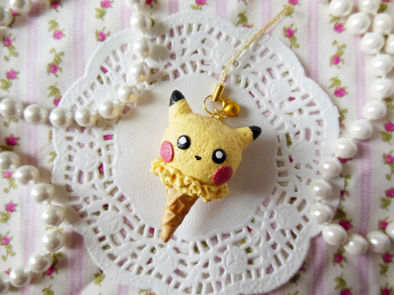 Pikachu Ice Cream Strap by KeoDear