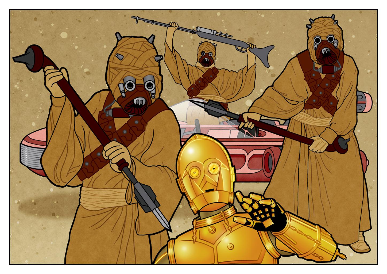 C-3PO Attack by PaulMcInnes