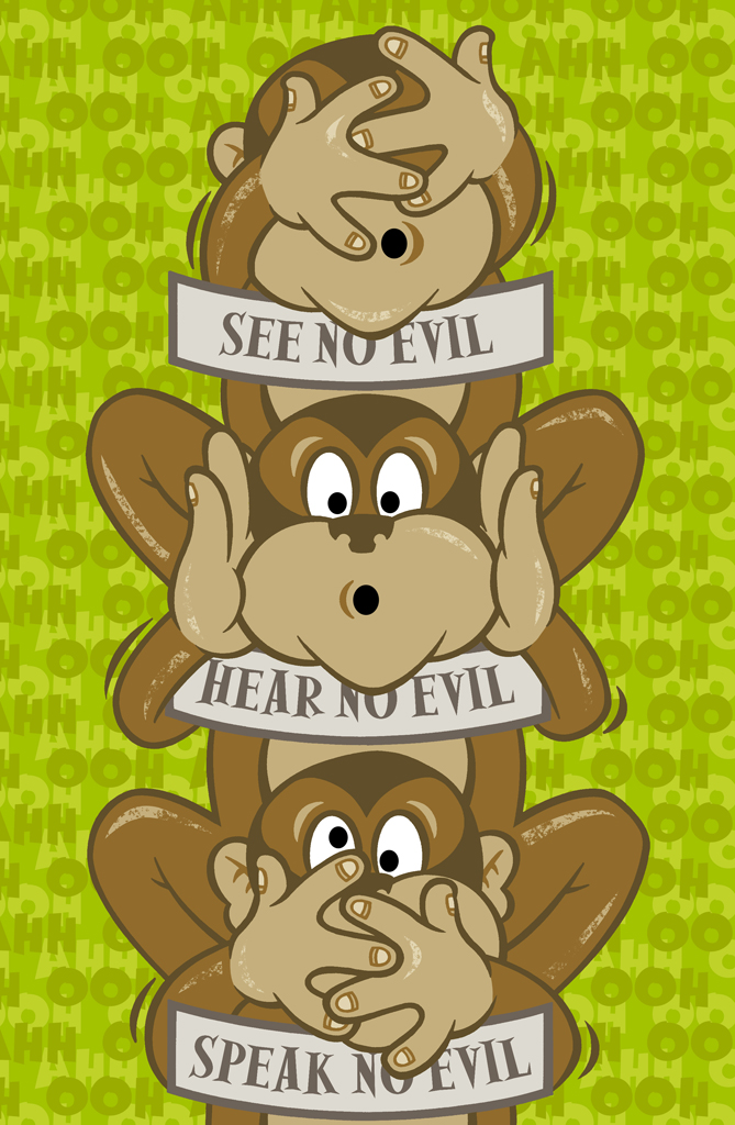 78ad6b8ce 3 Wise Monkeys? by PaulMcInnes on DeviantArt