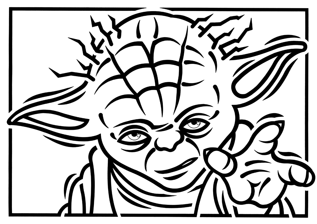 Yoda Mono By Paulmcinnes On Deviantart Yoda Coloring Pages