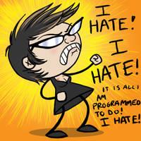 I HATE by locopuff
