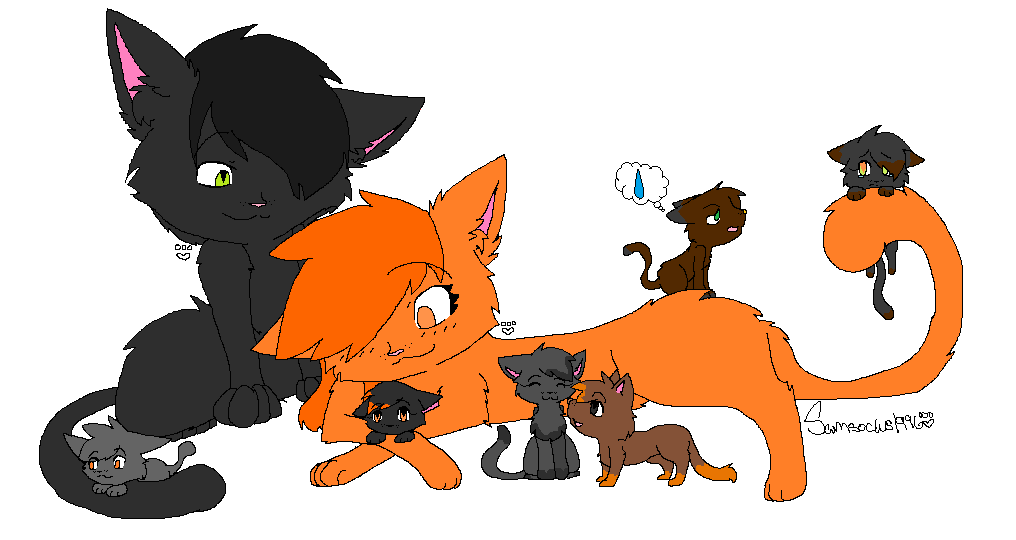 Scp-682 and Scp-999's Cat family by ChipsterTool on DeviantArt
