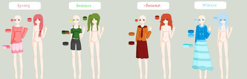 Four Seasons (Hair + Clothes)