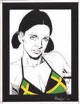 Lina in Jamaican Bikini