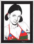 Lina in Azeri Bikini