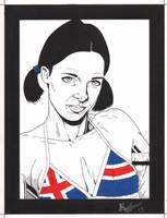 Lina in Icelandic Bikini by Knifley