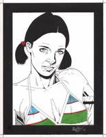 Lina in Uzbekistani Bikini by Knifley