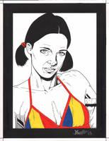 Lina in Romanian Bikini by Knifley