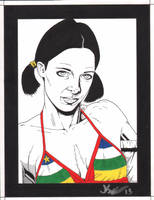 Lina in Central African Republican Bikini by Knifley