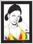 Lina in Guinea Bikini