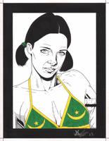 Lina in Mauritanian Bikini by Knifley