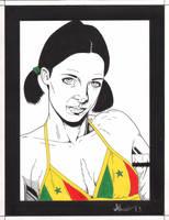 Lina in Senegal Bikini by Knifley