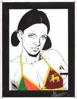 Lina in Sri Lankan Bikini by Knifley