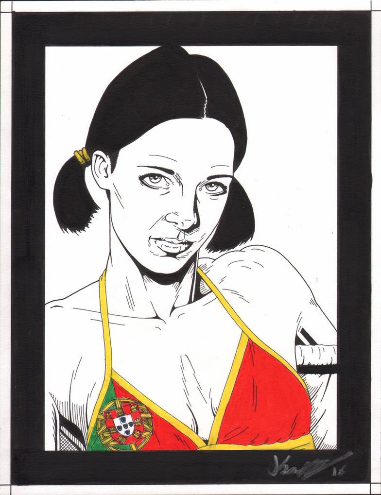 Lina in Portugese Bikini by Knifley