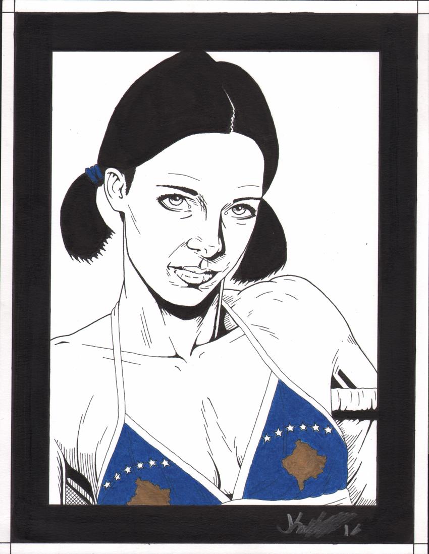 Lina in Kosovo Bikini by Knifley