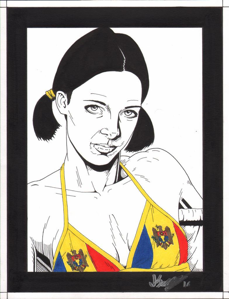 Lina in Moldovian Bikini by Knifley