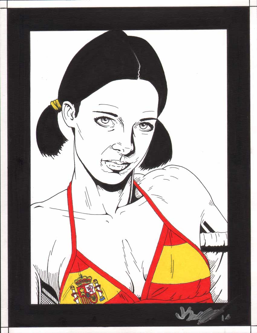 Lina in Spanish Bikini by Knifley