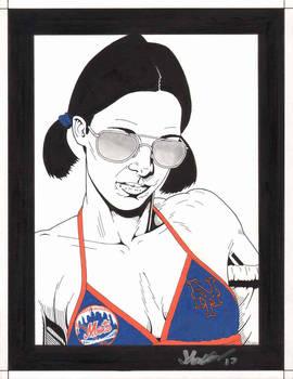 Lina in New York Mets Bikini