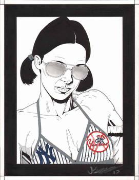 Lina in New York Yankees Bikini