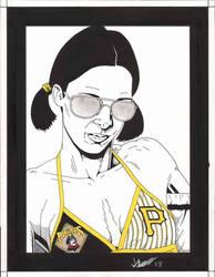 Lina in Pittsburgh Pirates Bikini by Knifley