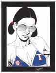 Lina in Texas Rangers Bikini by Knifley