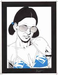 Lina in Superman '97 Bikini by Knifley