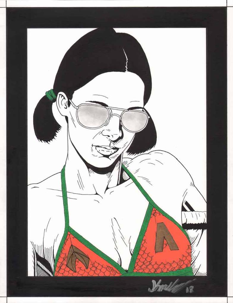 Lina in Aquaman Bikini by Knifley