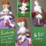 For Sale: Scorbunny by Crystal-Zen