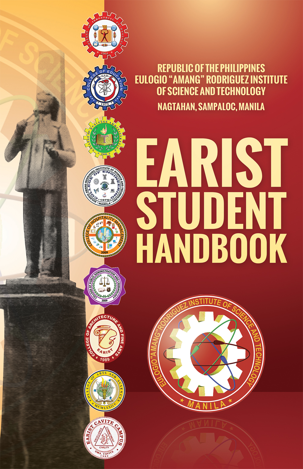 Hand Book Cover Design : Earist handbook cover by timothydiokno on deviantart