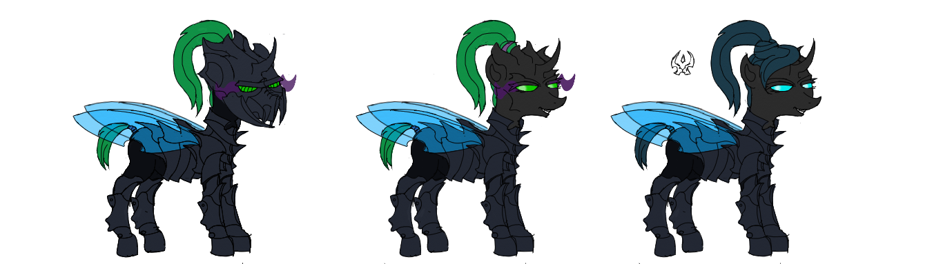 Rising Dawn - Changeling Lineup (Female) by InterloperS29