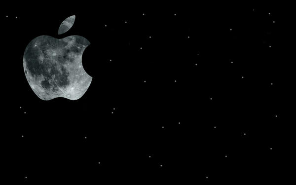 Apple moon wallpaper 1280-800 by x-Katus-x