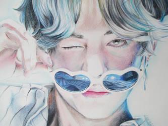 V [Kim Taehyung] - drawing by tofu0004