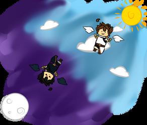 Chibi Flight by LynxiShakes