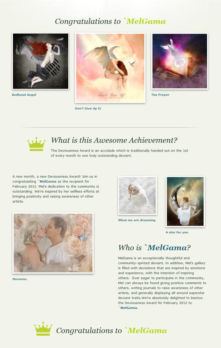 Deviousness Award DA by MelGama