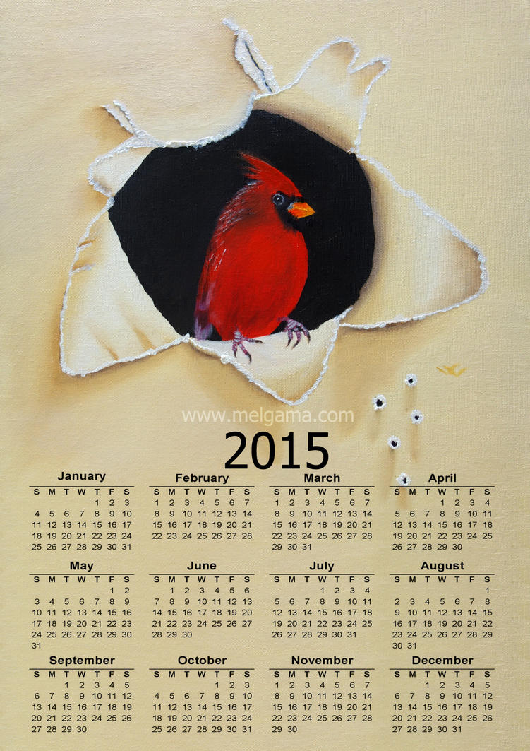 Calendar 2015 in English FREE by MelGama