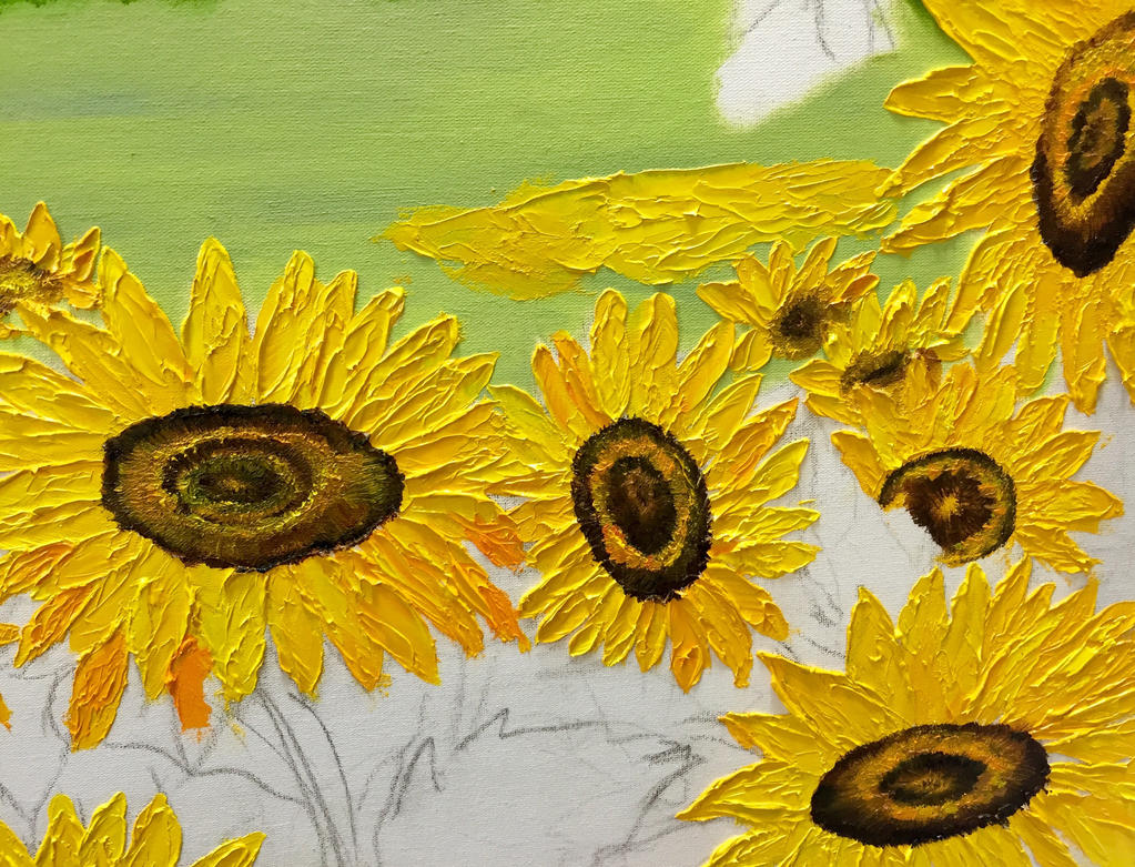 Sunflowers WIP by MelGama