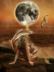 Mermaid at the Moonlight by MelGama