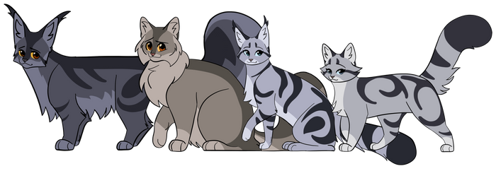 NEW Graystripe Family