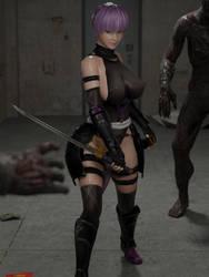 DOA Ayane Ninja Render by Fakemodeo