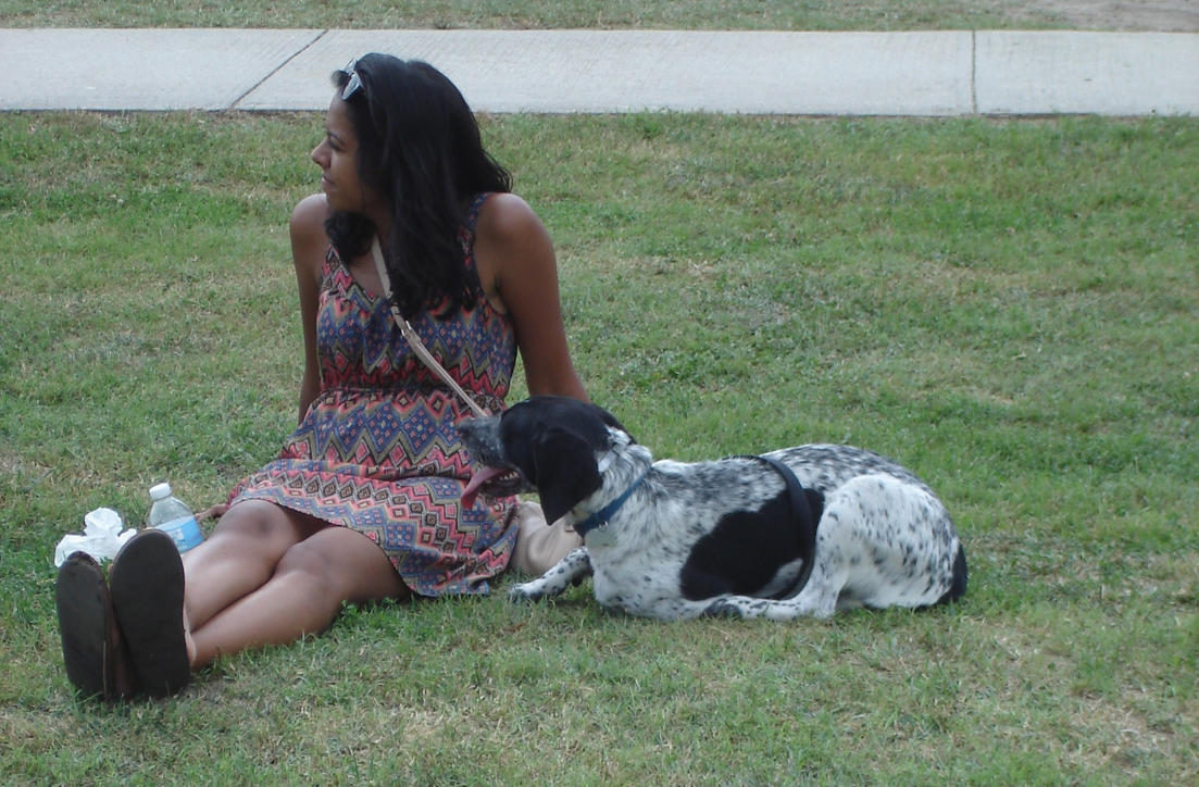 A Girl with Her Dog by LOSTgnosis