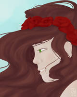 Portrait - Roses in Her Hair by smellslikebadart