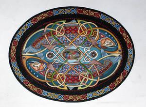 Oval fish design